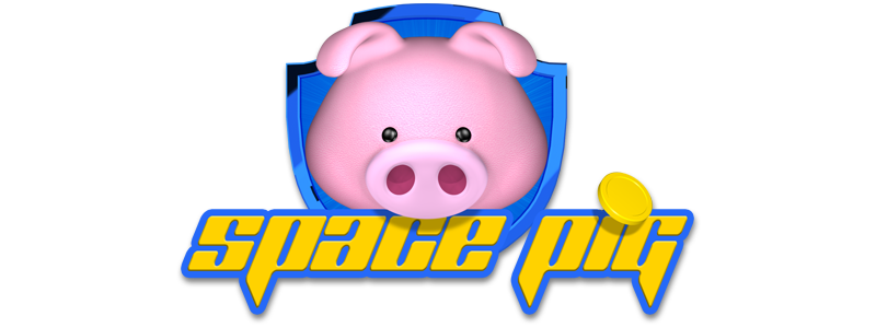 Space Pig. A journey to the moon